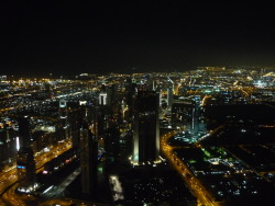 View from the 124th floor of the Burj Khalifa in Dubai, the tallest building in the world. submitted by: http://solastalgia.tumblr.com, thanks!