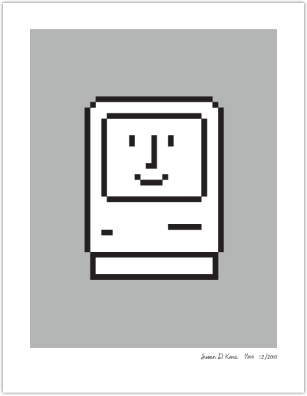 SMILING COMPUTER at Susan Kare Prints