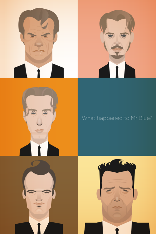 stanleychowillustration:  I watched Reservoir Dogs for the first time, since I saw it at the cinema 18 years ago… I illustrated this whilst watching it at the same time… What happened to mr Blue was the question I asked myself after the movie had finished… Even though we are told what happened to him, we never actual see what happened to him!