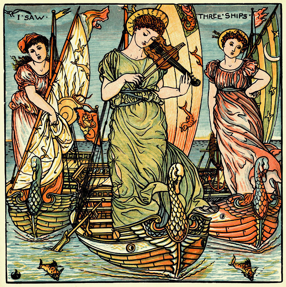 earwigbiscuits:  I Saw Three Ships… from A Baby's Opera, by Walter Crane, c.1900