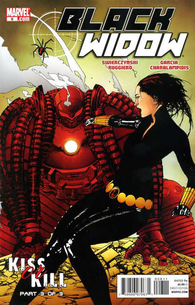 1482. Black Widow v4 #8, January 2011, written by Duane Swierczynski, penciled by Manuel Garcia My Score: 7.7