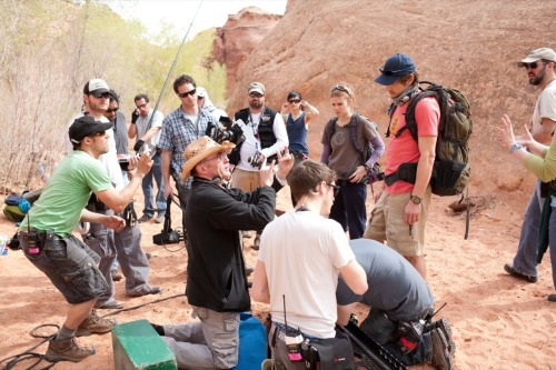 The cast and crew of 127 Hours, directed by Danny Boyle.