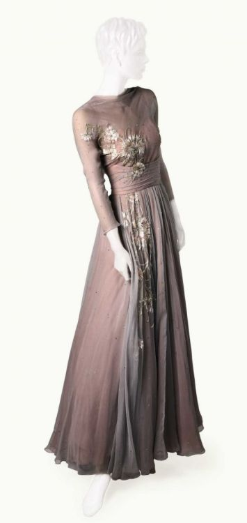High Society (1956)One of Grace Kelly's amazing gowns for her character Tracy Lordby Helen Rose High Society was Grace's last film before becoming Princess of Monaco.  Helen Rose also designed her wedding gown.