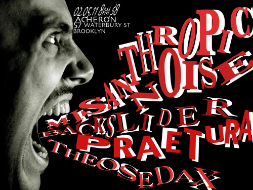 02/05/11 - The Osedax, Misanthropic Noise, Backslider, Praetura @ The Acheron