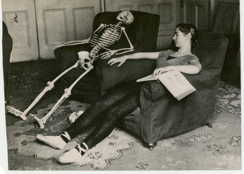 Skeleton and dancer,c.1930 by Keystone Agency one more from BRG [tumblr acted out again while I was asleep?!]