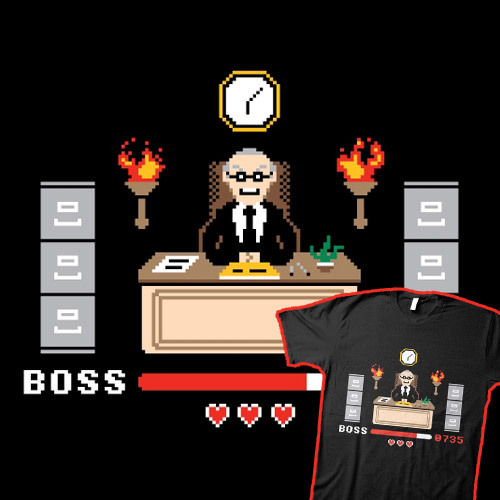 Final Boss available at Threadless