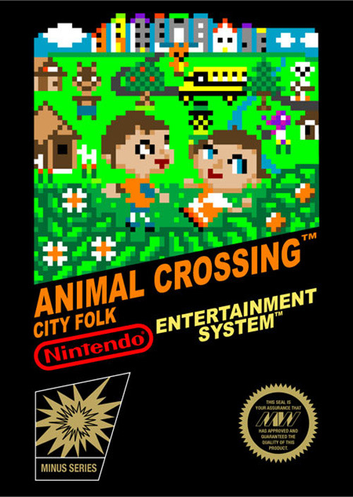 If Animal Crossing Were Made For The NES. Everybody should follow fuckyeah-animalcrossing because they post stuff like this.