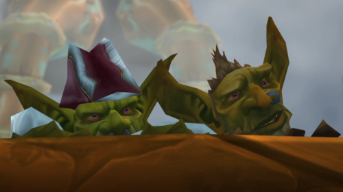 'Cause the alliance just had to bomb the goblin ship.