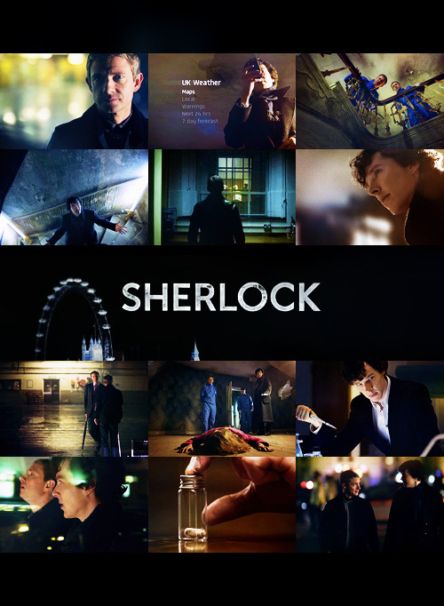 apio:   Sherlock 1x01 — A Study in Pink Film: 5/5 - Directing: 5/5 - Cinematography: 5/5 - Musical Score: 5/5  I'm several months late to the game but AT LEAST I'VE ARRIVED to finally fully appreciate all this flawlessness in BBC's Sherlock.  I don't have much to say other than it was BRILLIANT, BRILLIANT, BRILLIANT.  Benedict Cumberbatch and Martin Freeman were absolutely superb (THEIR CHEMISTRY PUTS RDJ AND JUDE LAW TO SHAME.  TO SHAAAME), and they're aided by some of the smartest, funniest, most masterful bits of writing I've ever seen on BBC.  I can't even wrap my head around how perfectly they worked this; I mean, these are characters and references built into the mythology of an entire country, and yet watching this now, I'm starting to believe that THIS IS THE ONLY SHERLOCK AND WATSON EVER WORTH HAVING. PERIOD, CASE CLOSED, END OF STORY.