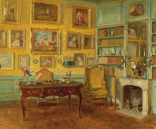 Walter Gay A Yellow Room Late 19th - early 20th century