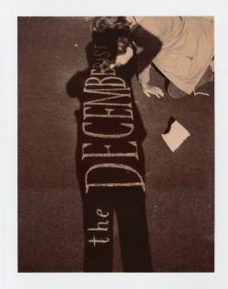 THE DECEMBERISTS - THE KING IS DEAD   DELUXE BOX EDITION POLAROID one of the 2,500 polaroids in the series chalk drawing by carson ellis http://www.decemberists.com/