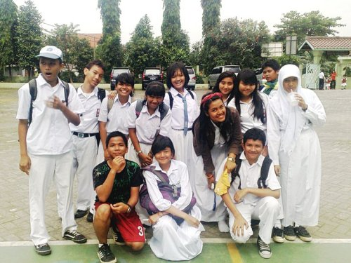 My friends at my senior high school. well, love them so much