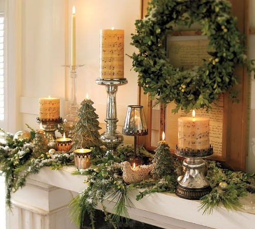 Beautiful Christmas Mantel…