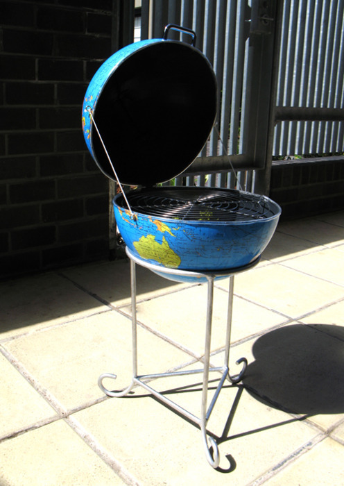 A globe that doubles as a BBQ.  Insert global warming joke here.
