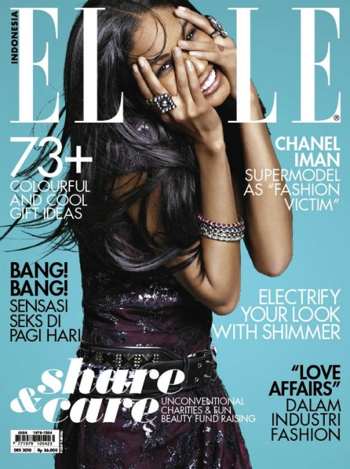 Chanel Iman for Elle Indonesia