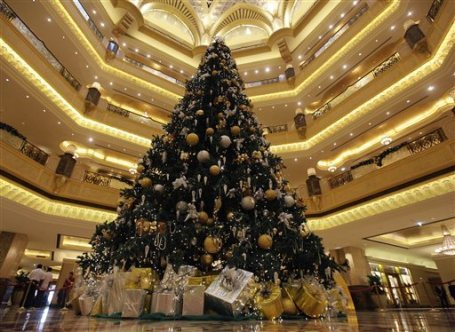 Check out Abu Dhabi's $11M Christmas Tree. Amazing.