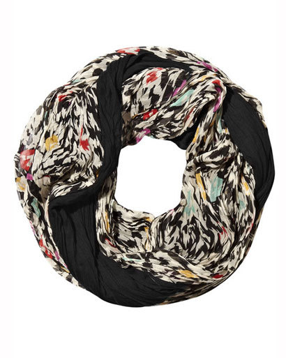 Diane von Furstenberg printed silk snood, at net-a-porter.com -Cold-Weather Cure: Sizzling Snoods