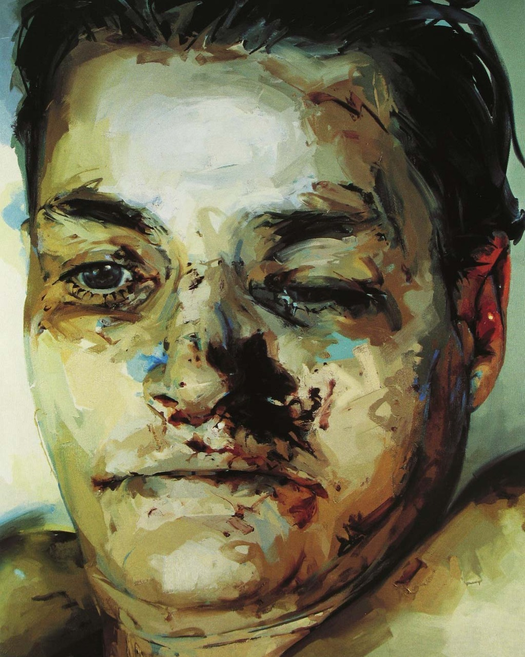 contemporary-art-blog:  Jenny Saville, Entry, 2003-2004  I saw several Jenny Saville's in the Logan Collection this weekend, a HUGE one right in their foyer. Incredible.