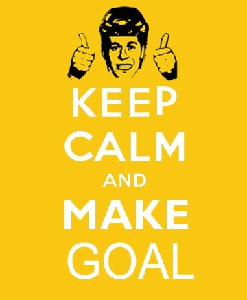 Keep calm and make goal