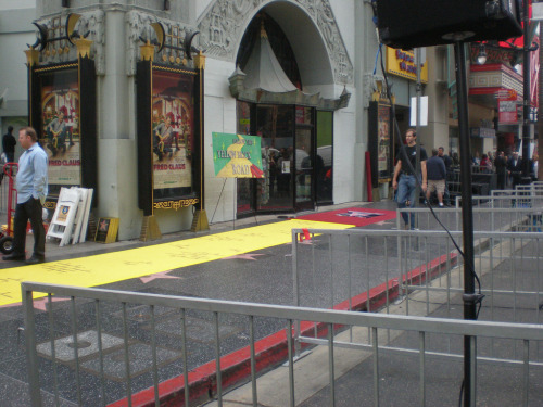 Preparations begin: Munchkins get their star on the Hollywood Walk of Fame, California, 2008