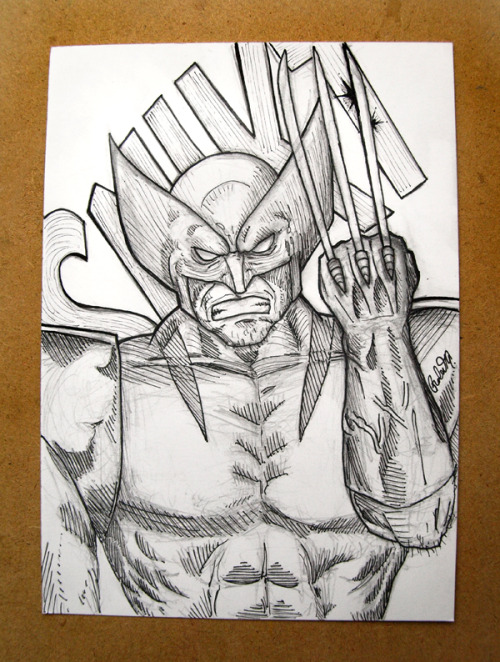 Close up of my Wolverine 5x7 drawing.