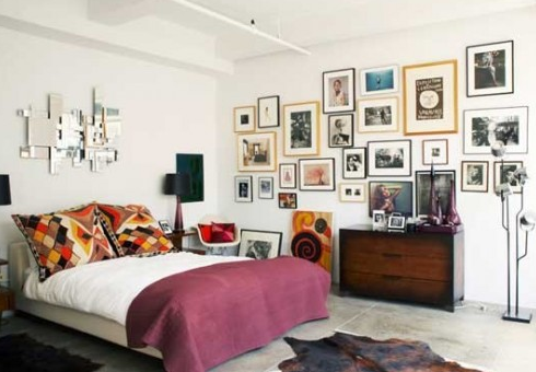A delightfully eclectic bedroom!