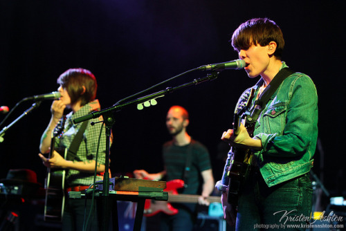 paperfoxstudio:  Tegan and Sara supported Jack Johnson at the riverstage, playing a couple of accoustic versions of their songs. Thanks to the lovely folks at The Tivoli I also got to see their seated q&a sideshow the next night, which was different but awesome as always. No photo pass for that night, as I had to first shoot Bon Jovi and then rush across town to make it (actually I'm not sure anyone got to shoot that show), but sometimes it's nice to just sit and enjoy a gig without a camera in hand. Although I must admit I do start to twitch after a while and can't help thinking how the lighting would look in this shot or how I'd frame that one.. #nerd. Tegan & Sara @ Brisbane Riverstage (by Kristen Ashton)