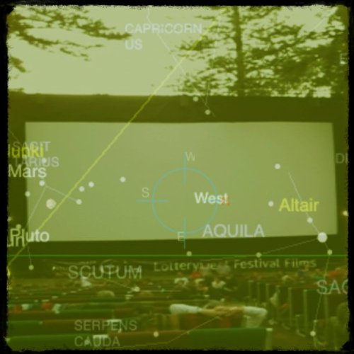 Stars of the Universe at the movies!! (Taken with Instagram at Somerville Auditorium)