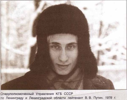 A young Vladimir Putin in 1976, while serving in the army.
