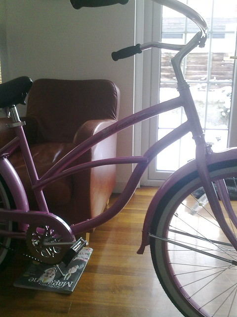 Just built the Pink Lady for my wife's surprise Christmas present. Kinda ironic building a pink beach cruiser when it's minus 8 outside…