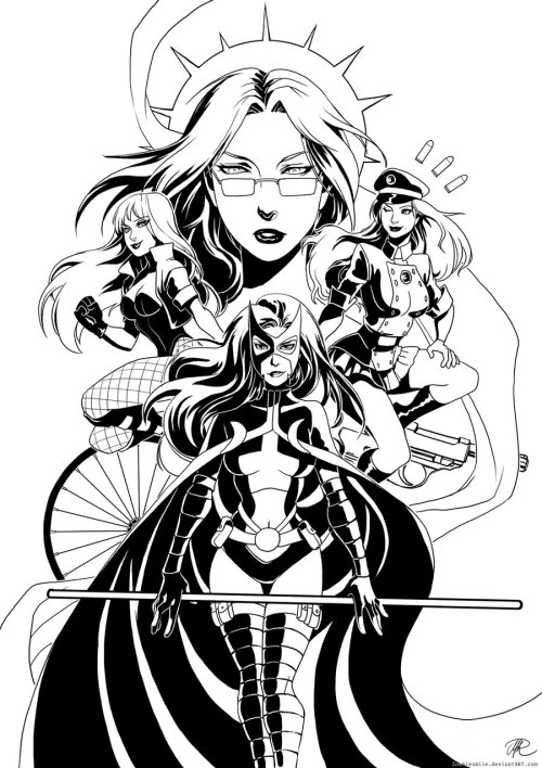 girlsofgotham:  - Birds of Prey by zombiesmile LOOK AT HOW BADASS THEY ARE.