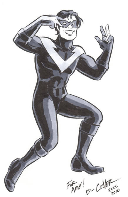 angelophile:  Nightwing doing the Batusi by Colleen Coover (Source)
