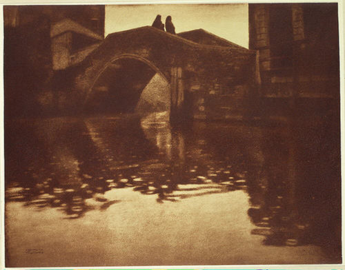 Venezianische Brücke [Venetian Bridge] 1902-3 by Heinrich Kühn Alfred Stieglitz Collection