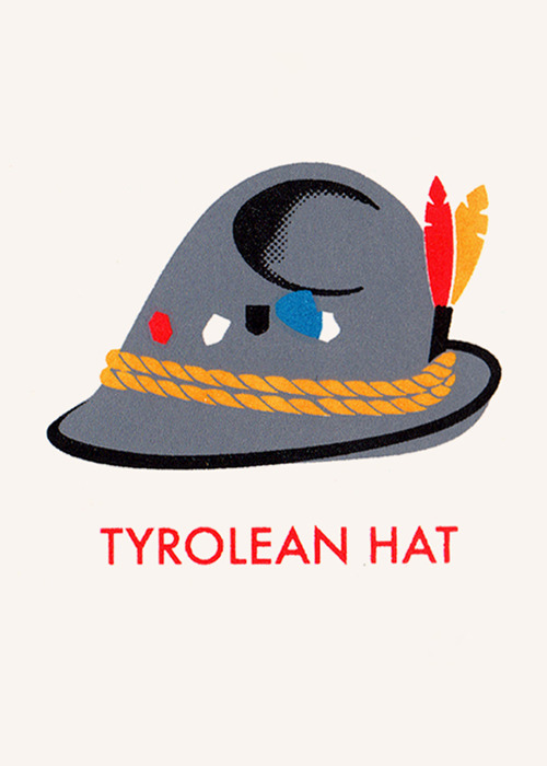 Hats detail (Tyrolean hat), James Brown, 2010 Buy it
