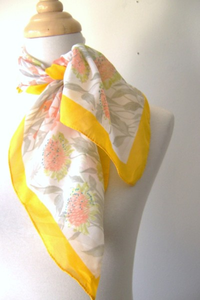 iswing:  Wish list: Sunny scarf on Etsy ($4) Despite contrary evidence, I swear I do more than browse the vintage section on Etsy.