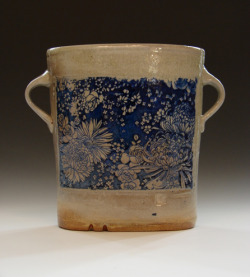 valscrapbook:  graphandcompass: Blue Flower Vase (by mitch kimball)