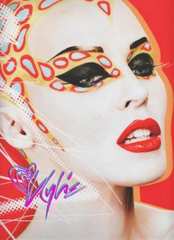 Kylie Minogue  makeup by Kabuki