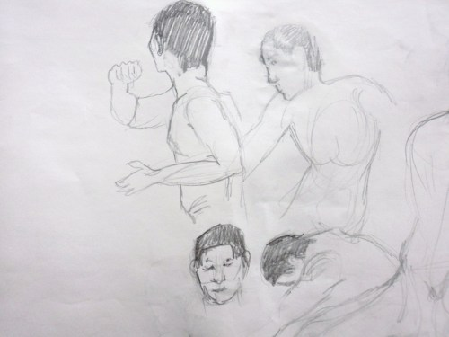 Various figure studies from my Emily Carr Drawing class.