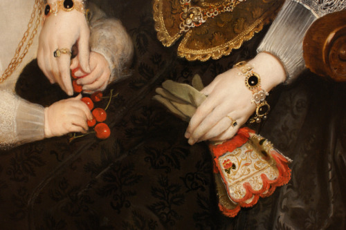 "yama-bato:  Cornelis de Vos, detail from ""Mother and Child"" 1624"