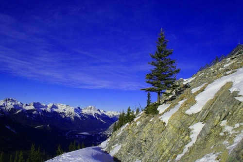 Sulphur Mountain in Banff, Alberta, Canada.