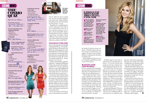 Julia Stiles interview to Cosmopolitan, Part II (Scans Credit)Click to full-size.