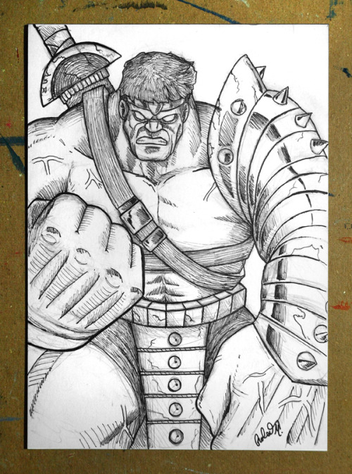 My World War Hulk 1 of 1 5x7 drawing. Check it out at: http://www.etsy.com/listing/64727630/world-war-hulk-1-of-1-5x7-drawing