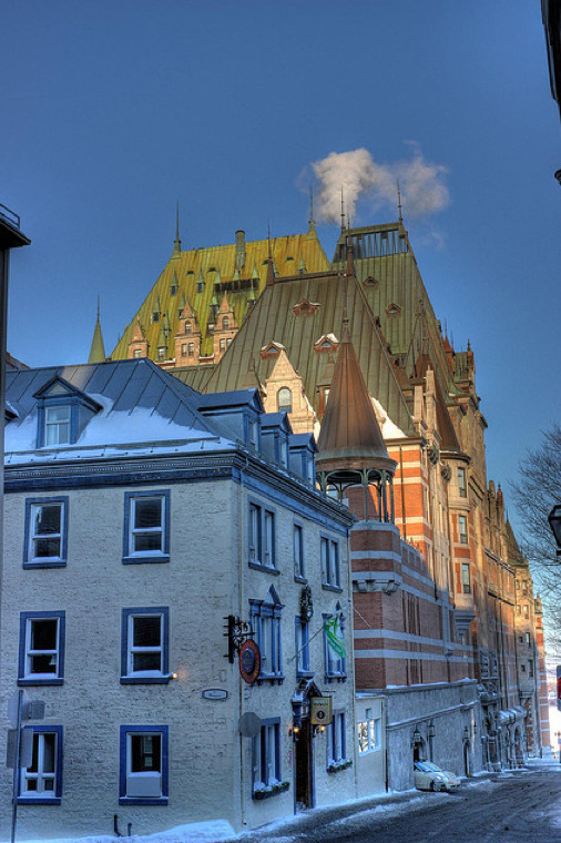 huffley6:  ysvoice:  | ♕ |  Snow street in Vieux Quebec  | by © jeffilan57  Oh Quebec! I love you!