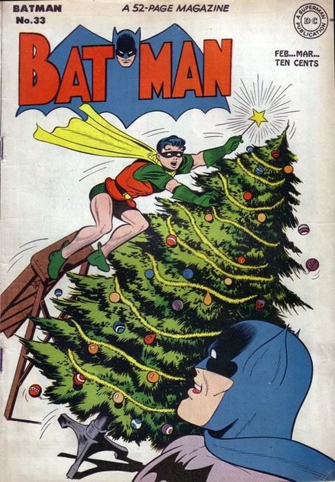 """HOLY CHRISTMAS BATMAN !"" ""Oh Robin, this year, Santa's going to bring you some pants…"" + Summer Camp do Christmas Wrapping  x Frohliches Weihnacten"