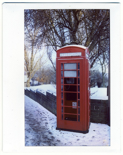 Phone Box in the Snow (Instax 200)