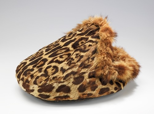 Fur foot-warmers, such as this one which dates to the first quarter of the 20th century, were used on long carriage or car journeys.