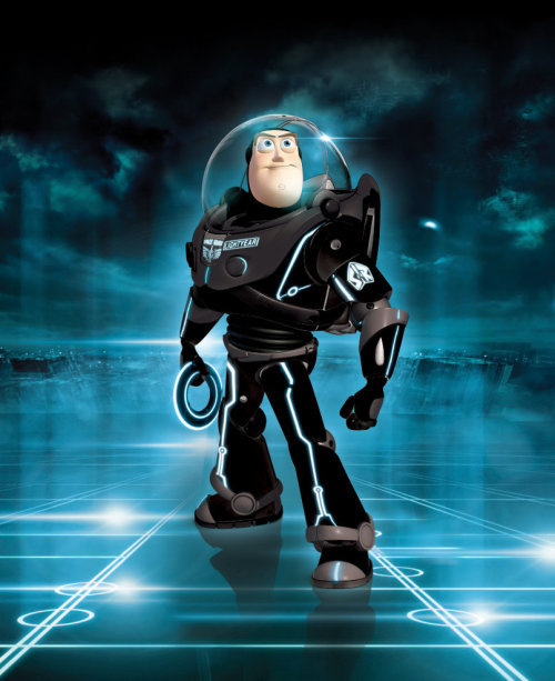 laughingsquid:  Tron Legacy Buzz Lightyear