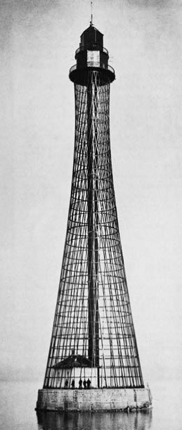 An hyperboloid lighthouse, designed by the Russian engineer and scientist Vladimir Grigorievich Shukhov.