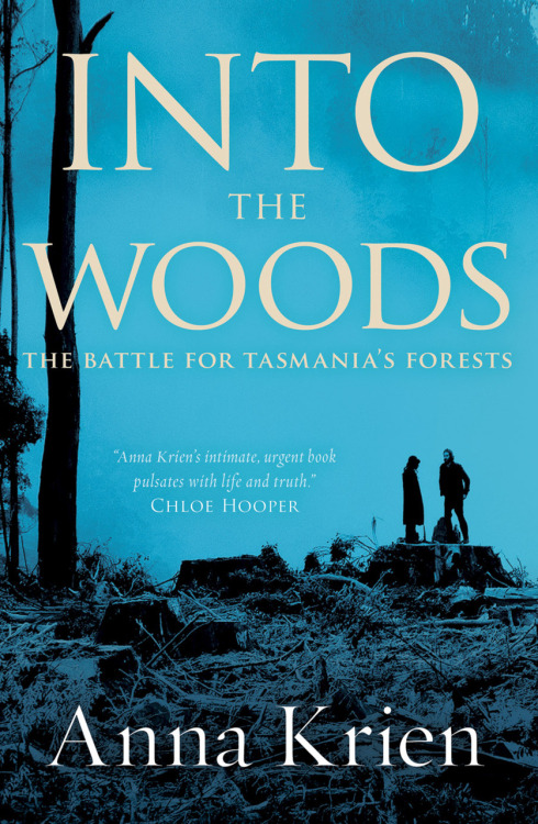 "Anna Krien, Into the Woods: The Battle for Tasmania's Forests, 2010 (cover image via and further info at Black Inc.: The Inc. Blot).  ""I make friends with a girl who has nothing to do with trees. She's a rare find. She takes me out to the coast where she and her sisters used to go to find shards of porcelain plates and teacups and saucers. It is a bit of a mystery why the hill and rock pools and dunes are filled with broken crockery. She thinks it had to do with a bacteria, a disease maybe, that prompted settlers to walk their favourite tea-sets and dining plates down to the water and smash them on the rocks before burying the fragments deep in the soil so people wouldn't smuggle them back into the colony and start the germ up all over again. When we get there, someone has built a huge sandstone gate where once one could walk down to the beach. We backtrack a little, look for electric wires and step under an ordinary paddock fence. Following it down to the sea, we studiously ignore the 'Trespassers Keep Out' sign posted in the dirt. […]At the end of the day we finish fossicking and tread back along the kelp now heaving with the incoming tide. The broken plates looked like shells, just as curious and gentle, not like they don't belong at all. It is a relief to find beautiful traces of us.""  I finished this within 24 hours of starting, and was moved to tears during the final chapters early this morning."