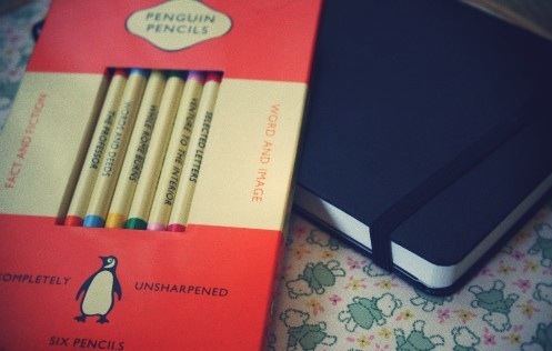 awritersruminations:  moleskine and penguin pencils